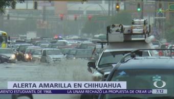 Alerta amarilla en Chihuahua por lluvias