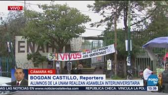 Alumnos Unam Realizan Asamblea Interuniversitaria Escuela Nacional De Antropología E Historia Cdmx, Ciudad De México