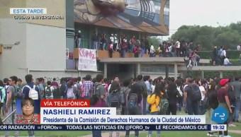 Alumnos de la UNAM serán apoyados por la CDH de la CDMX