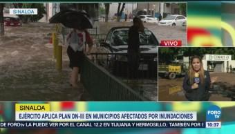 Aplican plan DN-III en Sonora y Sinaloa por inundaciones