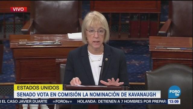 Aprueba comité del Senado de EU nominación de Kavanaugh