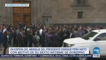 Arriban invitados al Sexto Informe de Gobierno de Peña Nieto