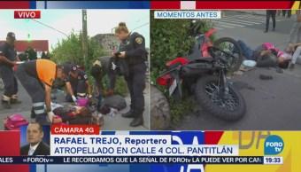 Atropellan Dos Motociclistas Pantitlán CDMX Accidentes Motocicletas
