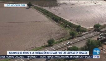 Autoridades Federales Apoyan Afectados Lluvias Sinaloa