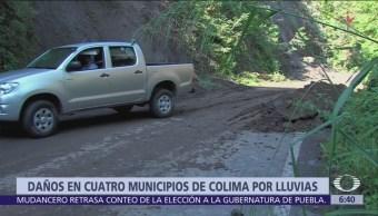 Baja presión provoca inundaciones en 4 municipios de Colima