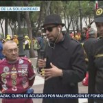 Bryan Mendoza entrevista a brigadistas de la CDMX
