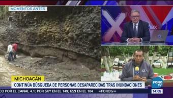 Buscan a 8 desaparecidos en Michoacán