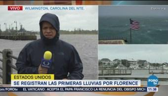Caen primeras lluvias provocadas por huracán 'Florence' en Carolina del Norte