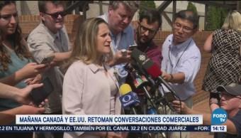 Canadá y EU retomarán negociación de TLCAN el miércoles