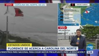 Carolina del Norte comienza a sentir efectos de Florence