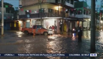 Casas afectadas en Cocula, Guerrero, por desbordamiento