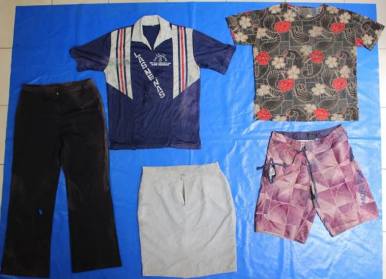 Catálogo de ropa exterior en fosas clandestinas