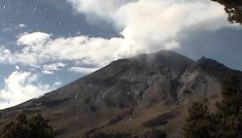 Cenapred: Popocatépetl lanza 221 exhalaciones acompañadas de ceniza