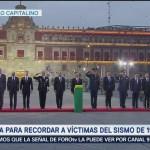 Ceremonia para recordar a víctimas del sismo de 1985 en CDMX