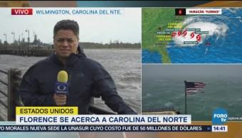 Comienzan lluvias en Carolina del Norte por huracán Florence
