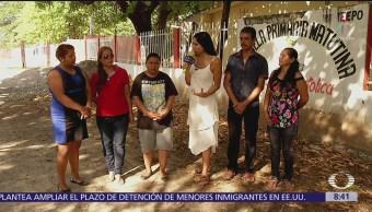 Comité de Padres de Familia construyen aulas temporales en Tehuantepec
