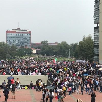 ¡Porros, fuera!, demandan estudiantes de la UNAM