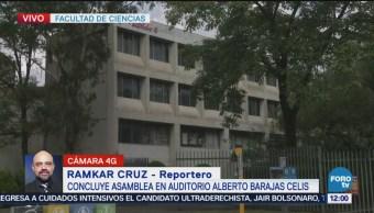 Concluye asamblea de estudiantes de la Facultad de Ciencias en la UNAM