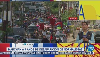 Concluyen Manifestaciones Normalistas Ayotzinapa Chilpancingo Guerrero