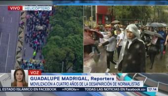 Contingente Memoria Normalistas Ayotzinapa Avanza Reforma