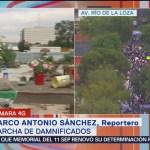 Contingente sale de Chimalpopoca rumbo al Zócalo capitalino