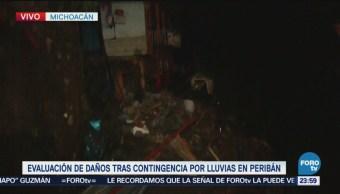 Labores Rescate Desaparecidos Peribán Michoacán Inundaciones