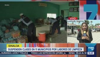 Continúan las clases suspendidas en Sinaloa por trabajos