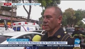 Controlan Incendio Colonia Doctores Bomberos Fernando Gómez Vértiz