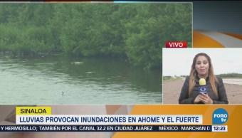 Depresión tropical '19-E' deja inundaciones norte Sinaloa