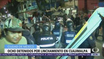 Detienen a 8 hombres por linchamiento en Cuajimalpa, CDMX