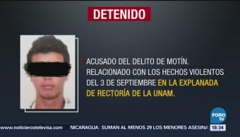 Detienen Joven Agresión Estudiantes Unam CDMX Estudiantes