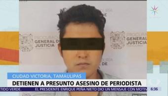 Detienen a presunto asesino del periodista Héctor González