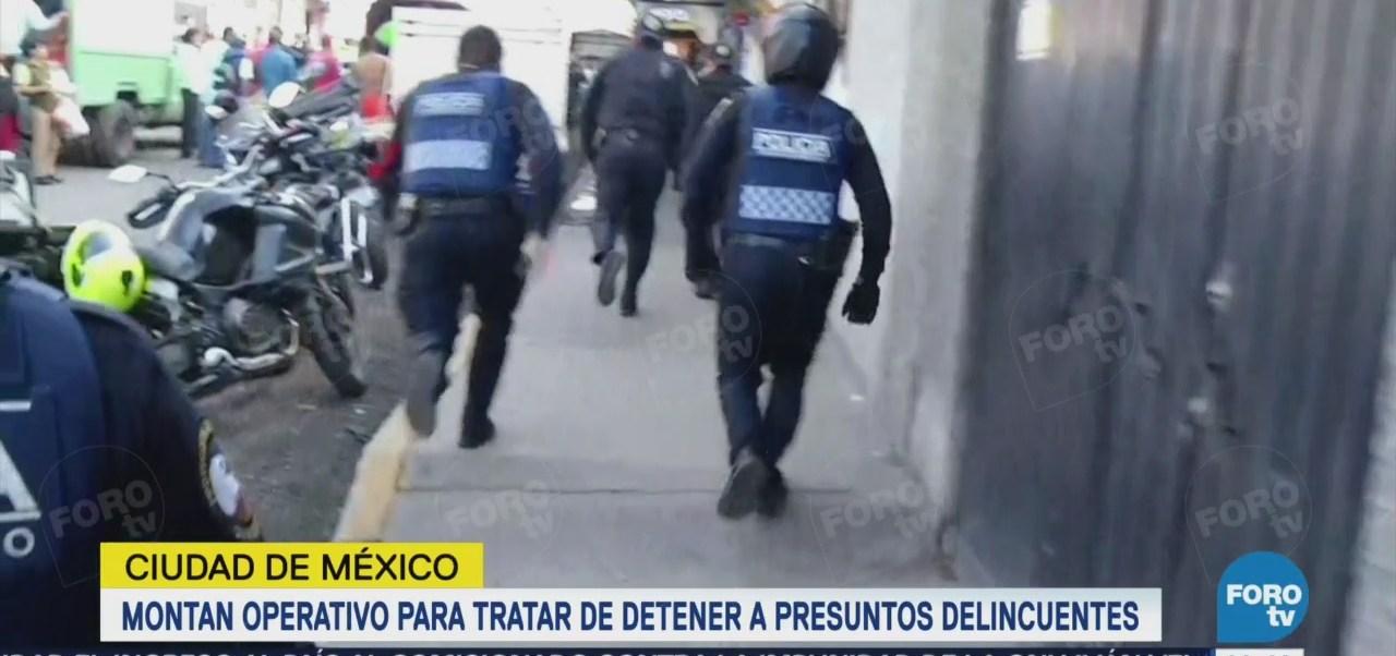 Detienen a un criminal durante operativo Gustavo A. Madero