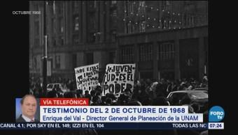 Director de planeación de UNAM da testimonio de 2 de octubre