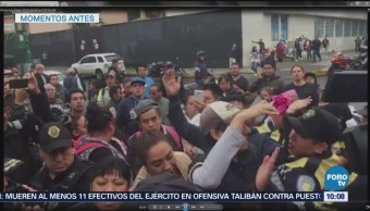 Dispersan manifestación de 19S en Eje Central Lázaro Cárdenas