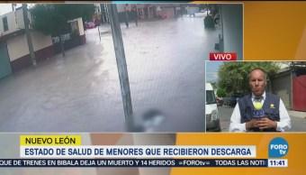 Dos jóvenes afectados por descarga eléctrica en Apodaca, fuera de peligro