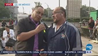 El Repor intercepta trabajadores frente al Pasaje Chapultepec