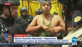 Enfrentamiento Entre Policías Comerciantes De Tepito