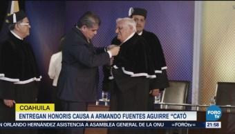 Entregan Honoris Causa A Armando Fuentes Aguirre Catón