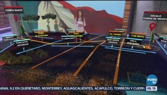 Cierres Alternativas Viales Desfile Militar CDMX