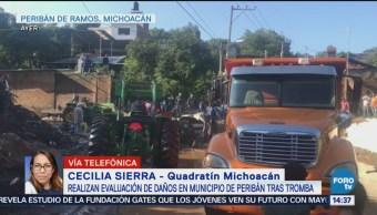 Evalúan daños en Peribán, Michoacán