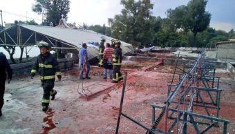 Se registra explosión de pirotecnia en la iglesia de Los Reyes en Coyoacán