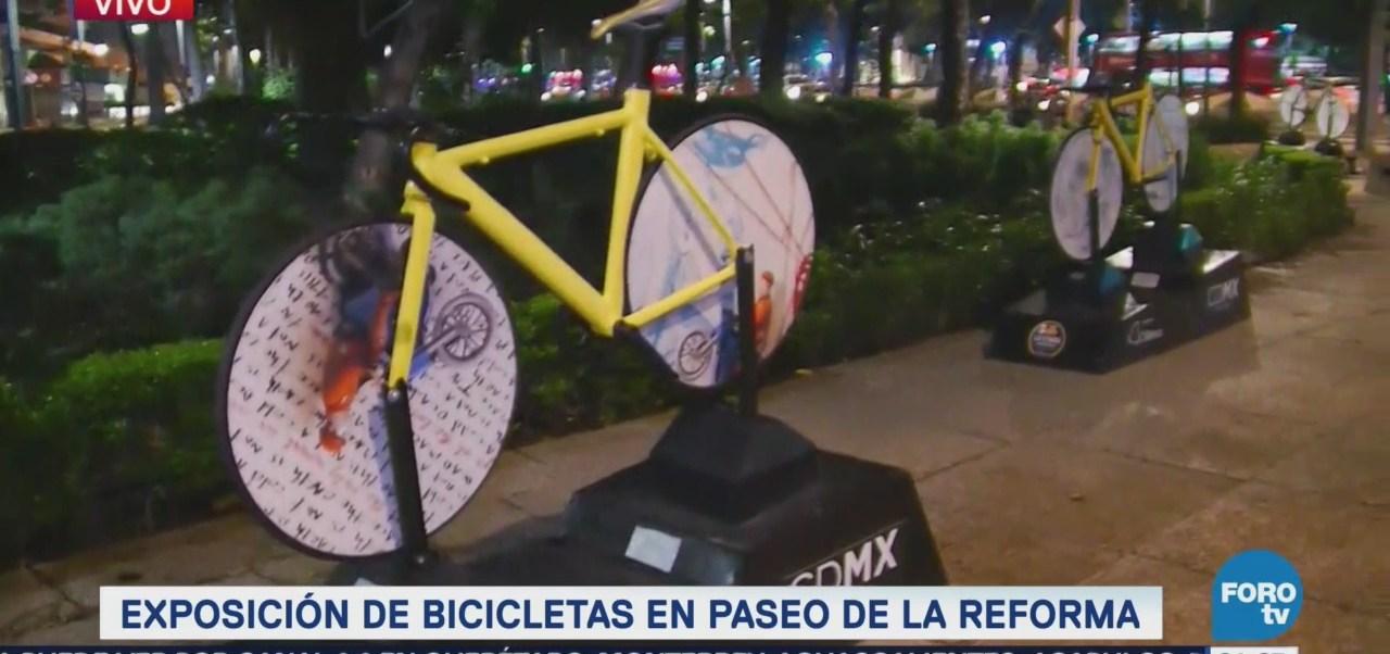 Exposición Bicis Bicicletas Paseo De Reforma CDMX Cultura