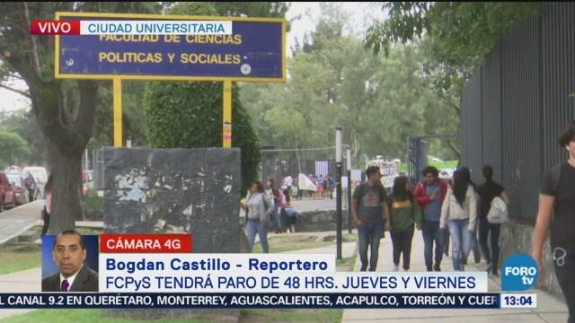 Facultad De Ciencias Políticas Paro De 48 Horas Estudiantes Situación Académica