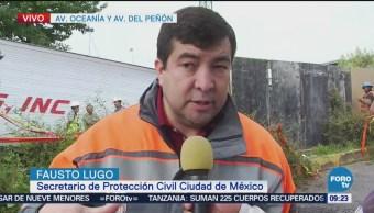 Fausto Lugo Explica Afectaciones Socavón Oceanía CDMX