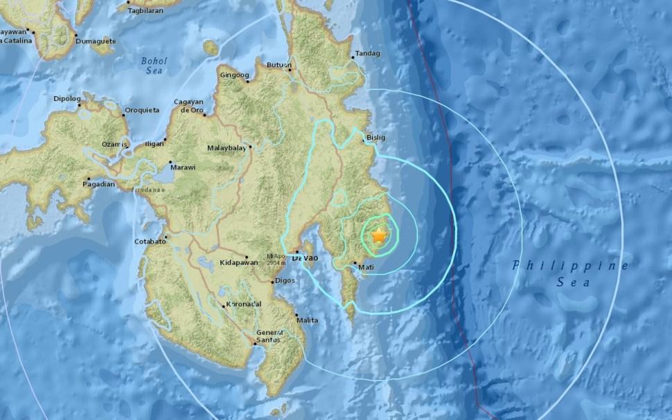Sismo de 6.1 grados sacude Davao, en el sur de Filipinas