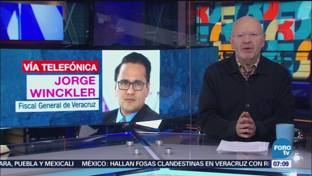Fiscal de Veracruz informa sobre fosa clandestina