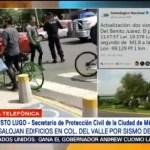 Fueron sismos locales los registrados hoy colonia Narvarte