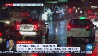 Fuerte lluvia en la Ciudad de México