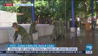 Fuerzas armadas apoyan a la población de Ahome, Sinaloa